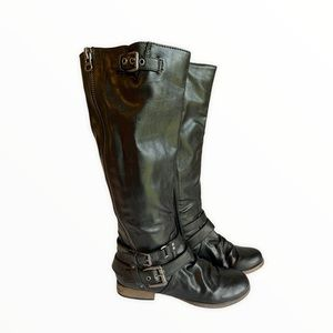 Carlos Black Boots With Buckle Size 7